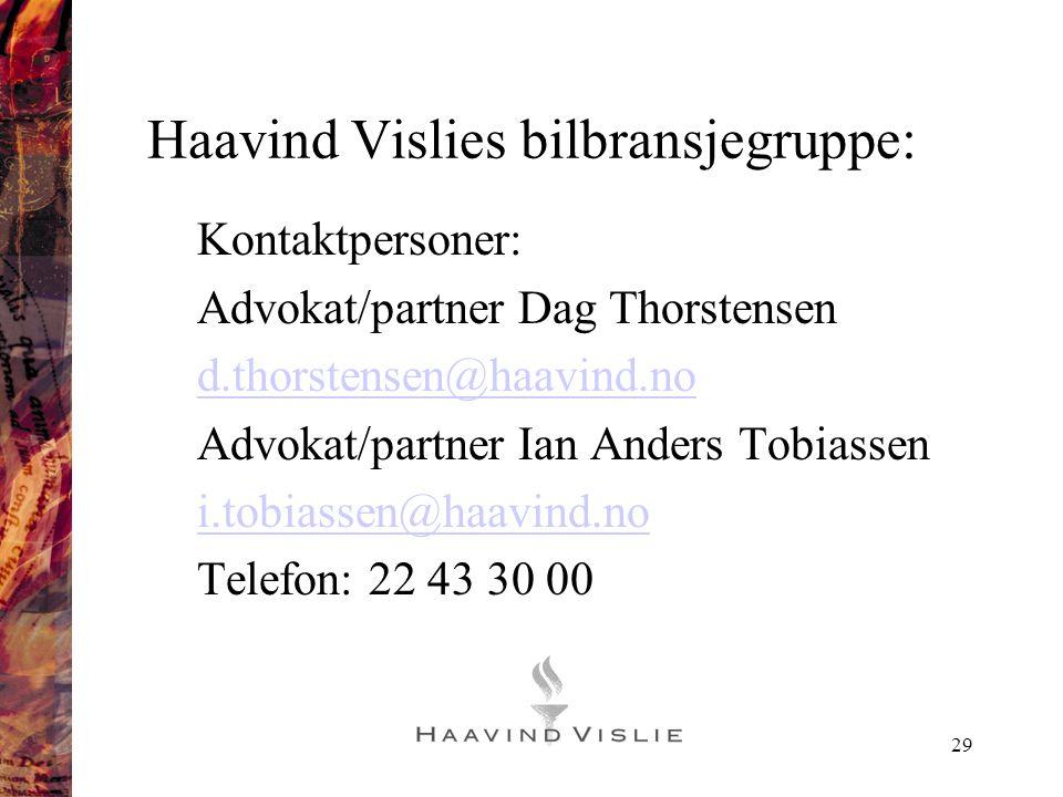 Haavind Vislies bilbransjegruppe: