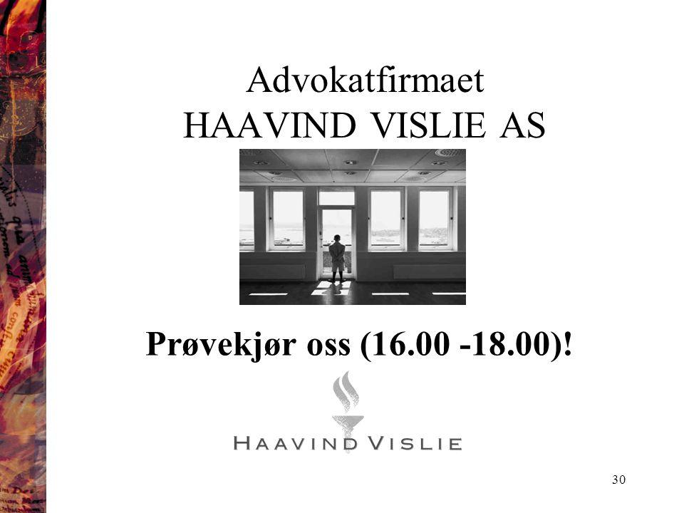 Advokatfirmaet HAAVIND VISLIE AS