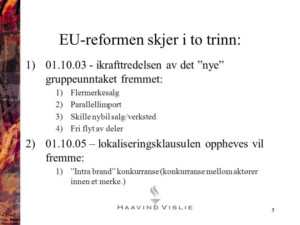 EU-reformen skjer i to trinn: