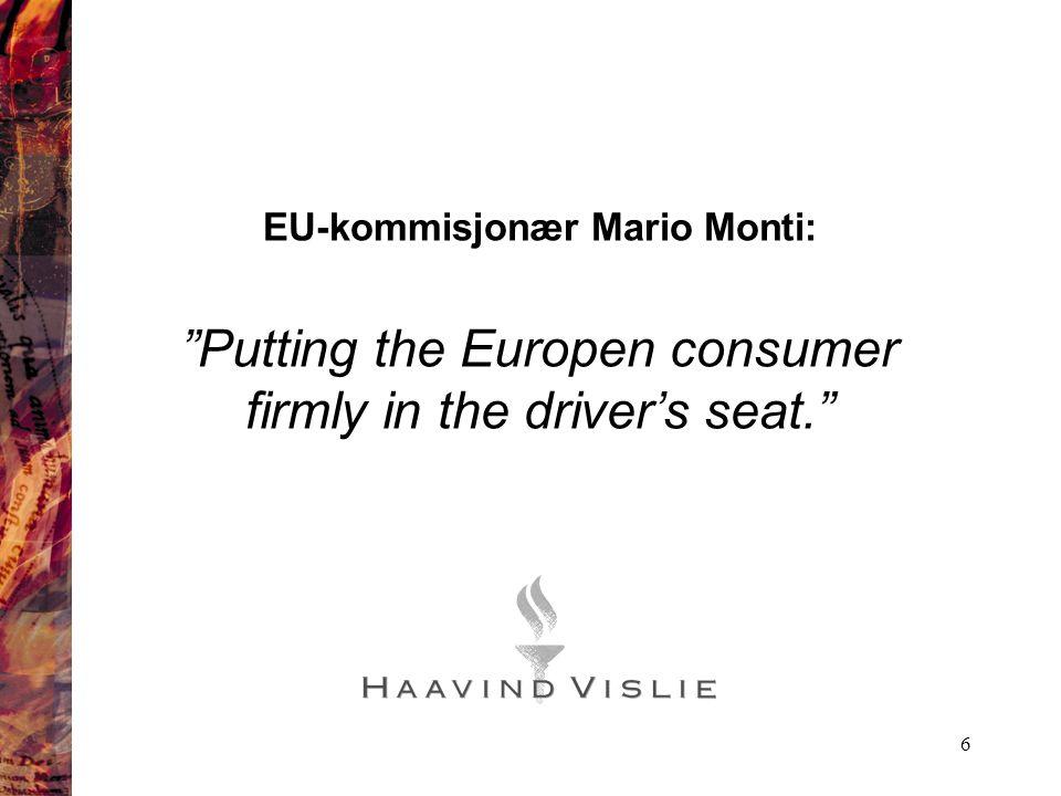 EU-kommisjonær Mario Monti: