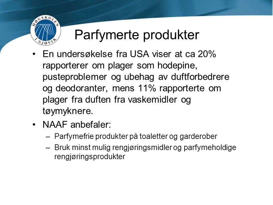 Parfymerte produkter