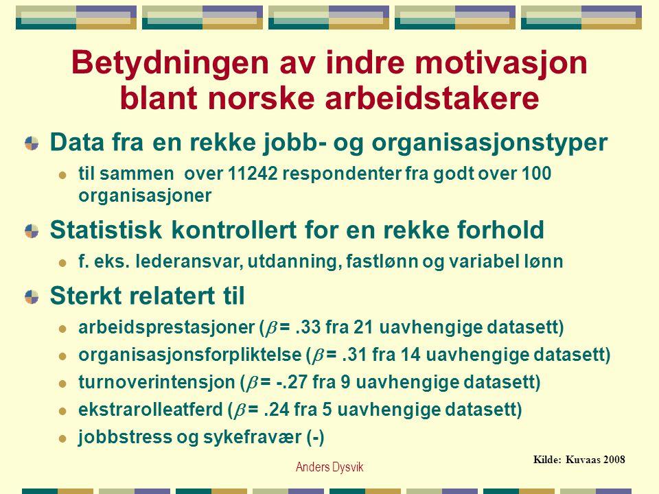 Betydningen av indre motivasjon blant norske arbeidstakere