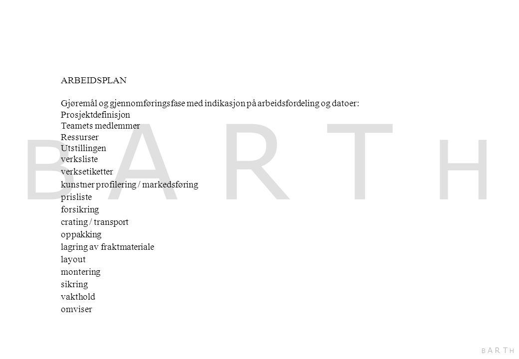 kunstner profilering / markedsføring prisliste forsikring