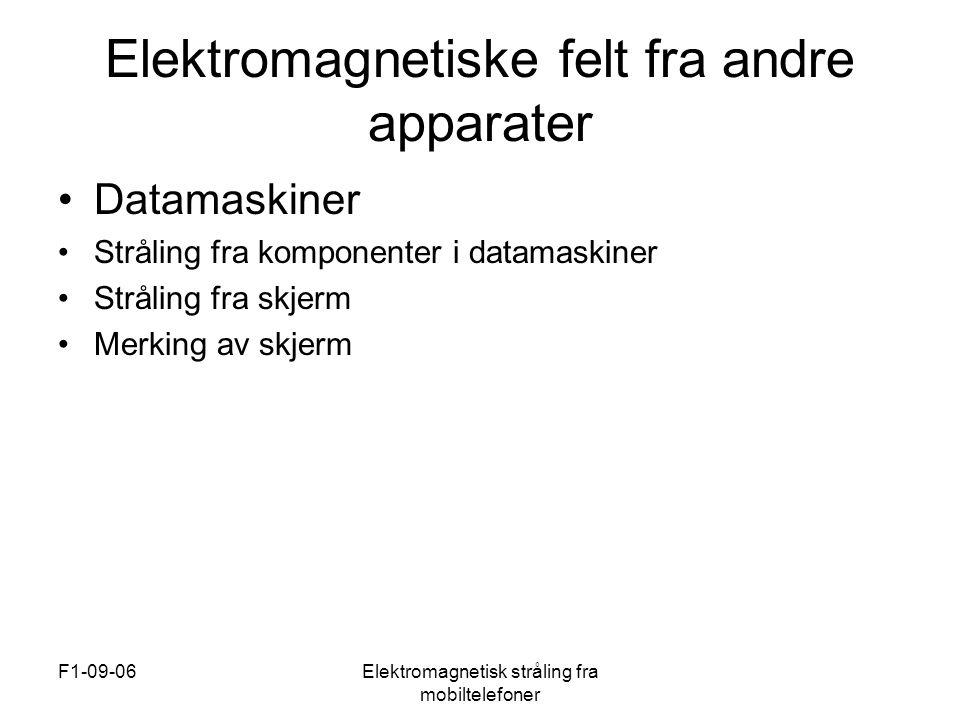 Elektromagnetiske felt fra andre apparater