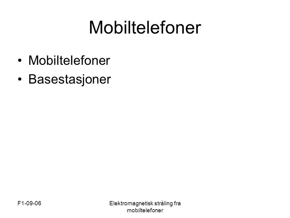 Elektromagnetisk stråling fra mobiltelefoner