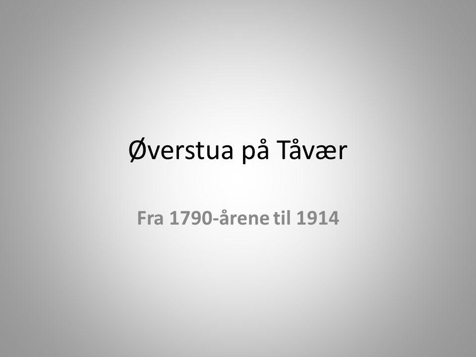 Øverstua på Tåvær Fra 1790-årene til 1914