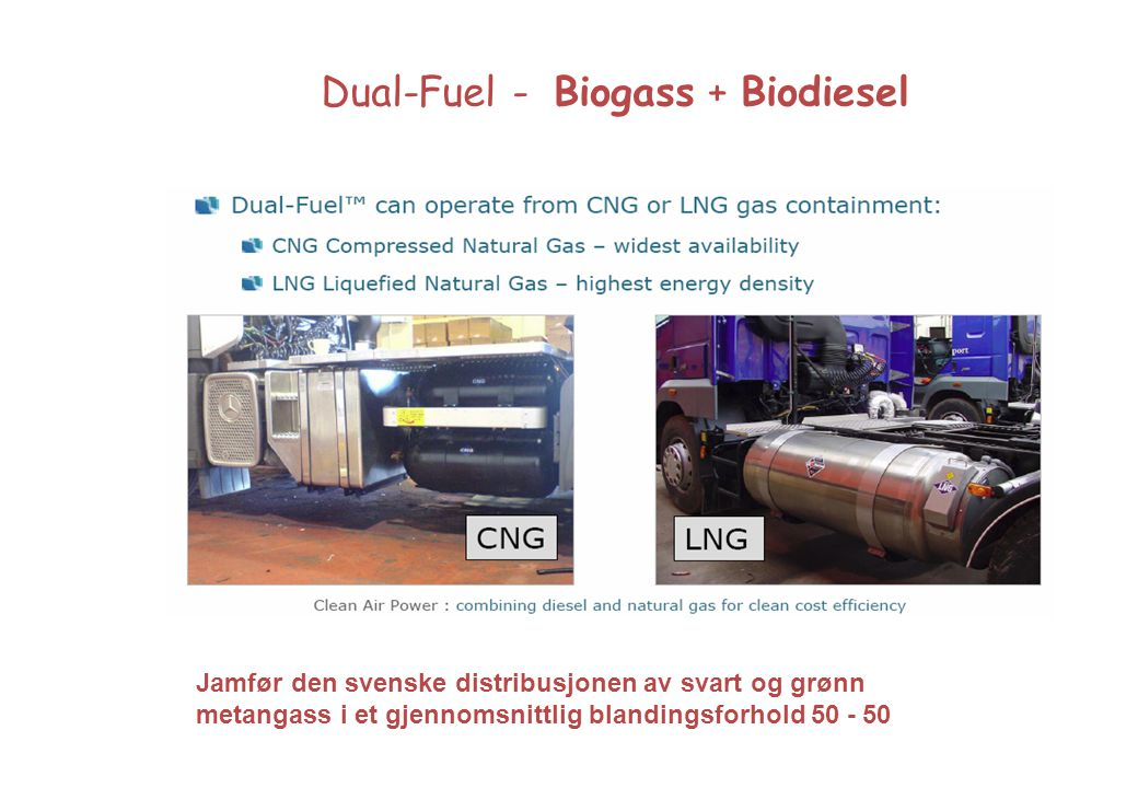 Dual-Fuel - Biogass + Biodiesel