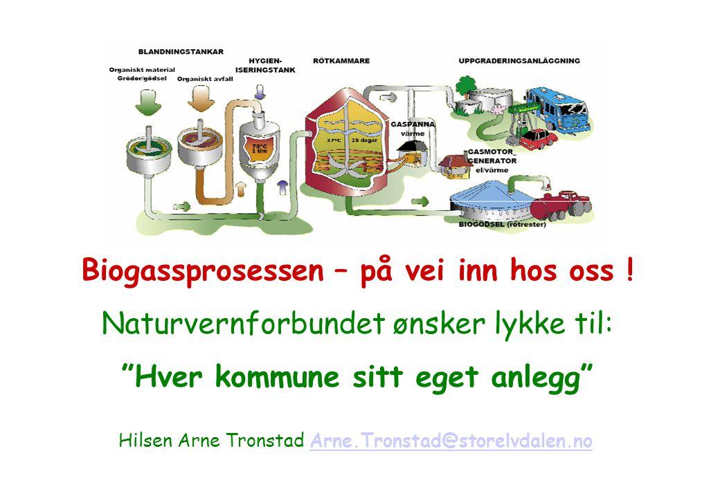 Biogassprosessen – på vei inn hos oss !