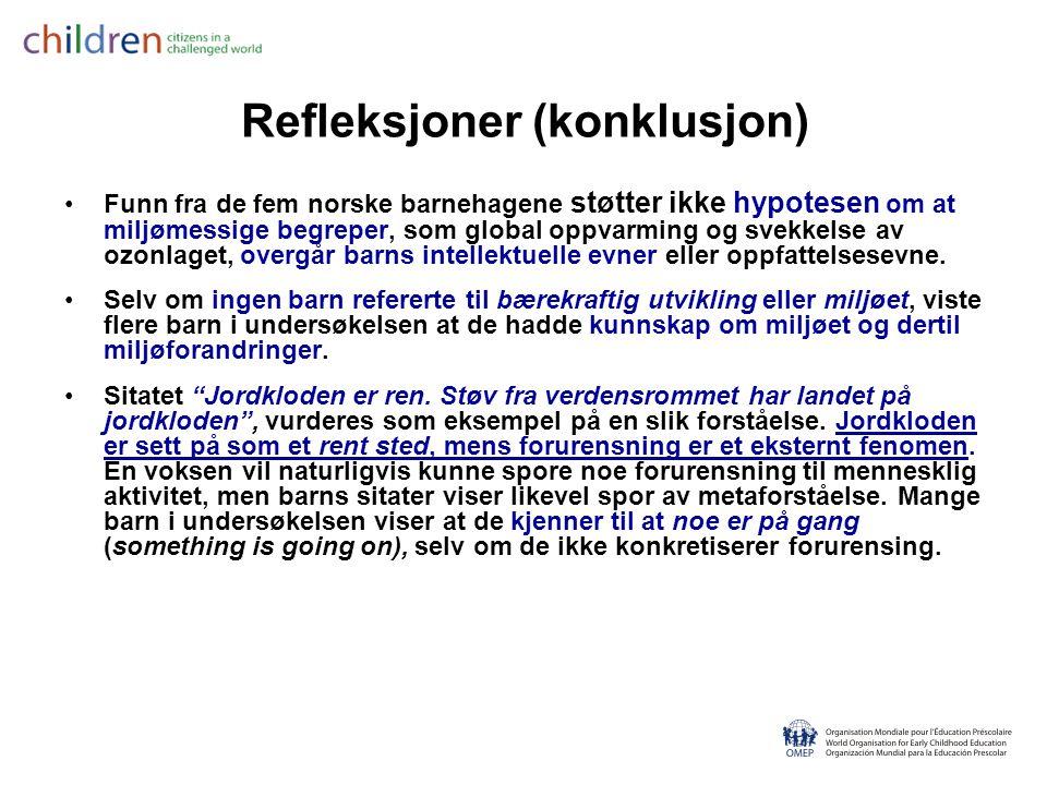 Refleksjoner (konklusjon)