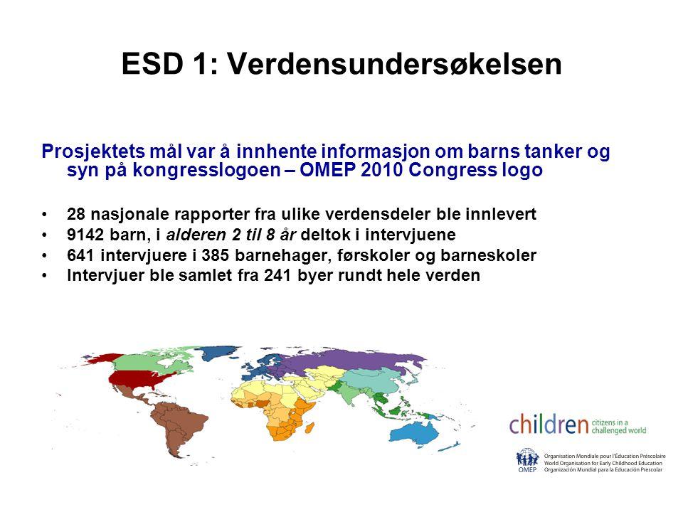 ESD 1: Verdensundersøkelsen
