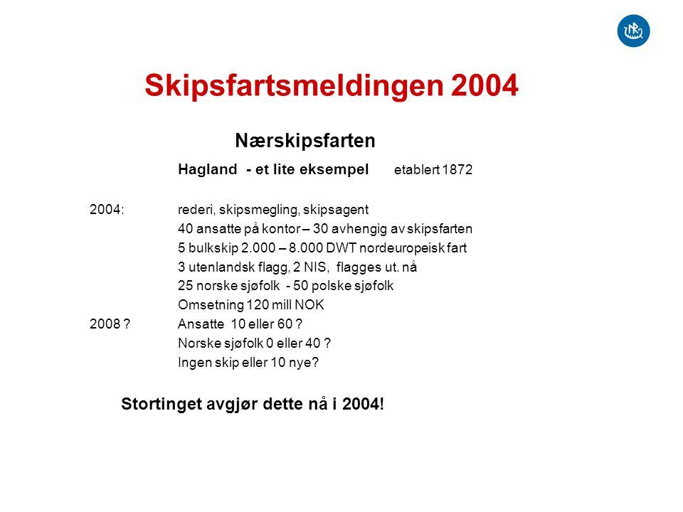 Skipsfartsmeldingen 2004 Nærskipsfarten