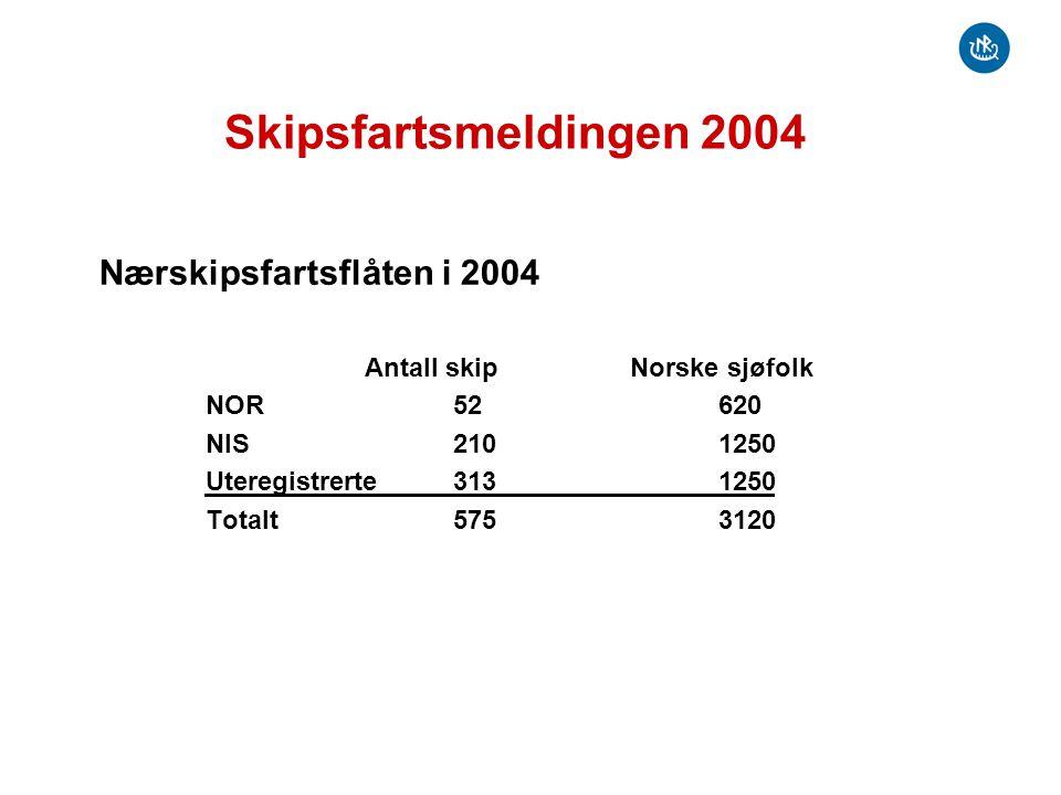 Skipsfartsmeldingen 2004 Nærskipsfartsflåten i 2004