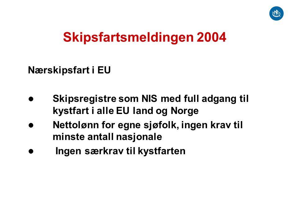 Skipsfartsmeldingen 2004 Nærskipsfart i EU