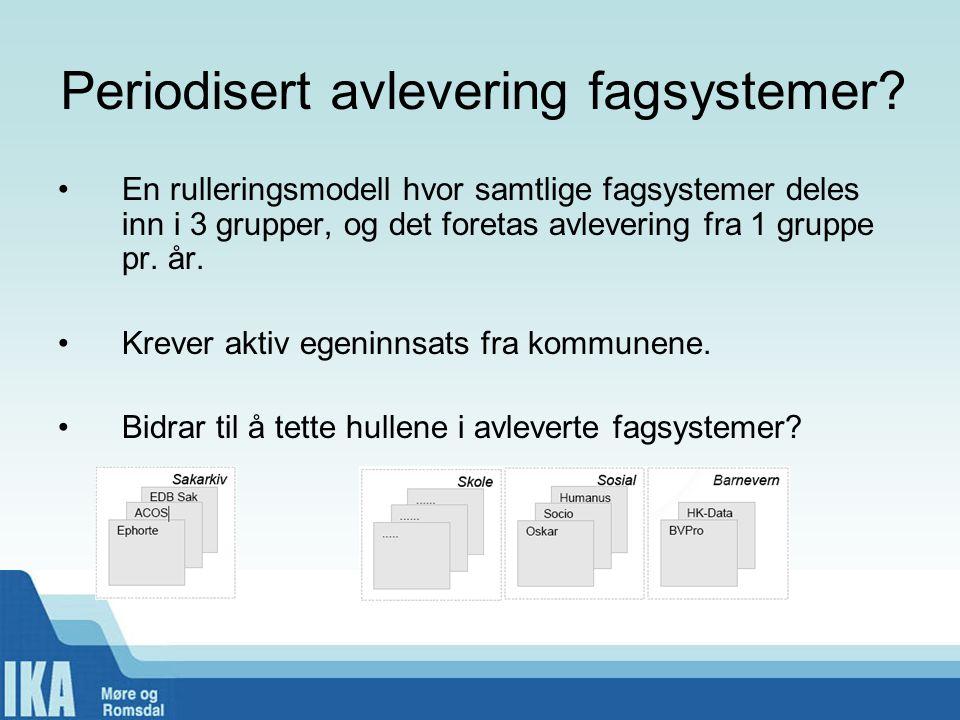 Periodisert avlevering fagsystemer