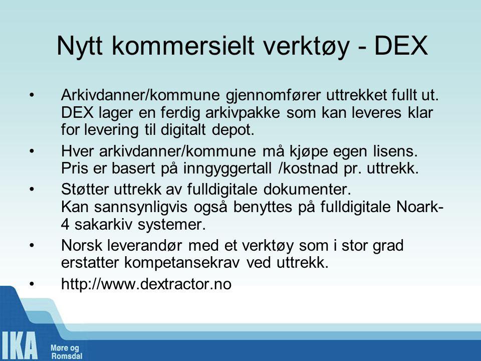 Nytt kommersielt verktøy - DEX