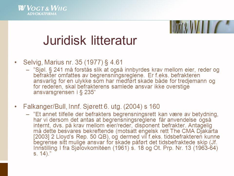 Juridisk litteratur Selvig, Marius nr. 35 (1977) § 4.61