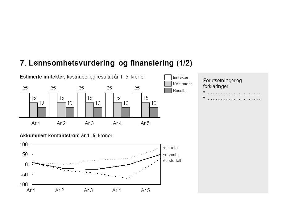 7. Lønnsomhetsvurdering og finansiering (2/2)