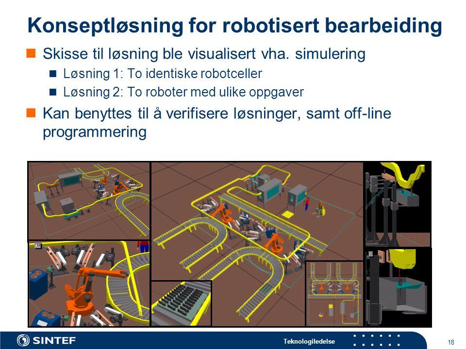 Konseptløsning for robotisert bearbeiding