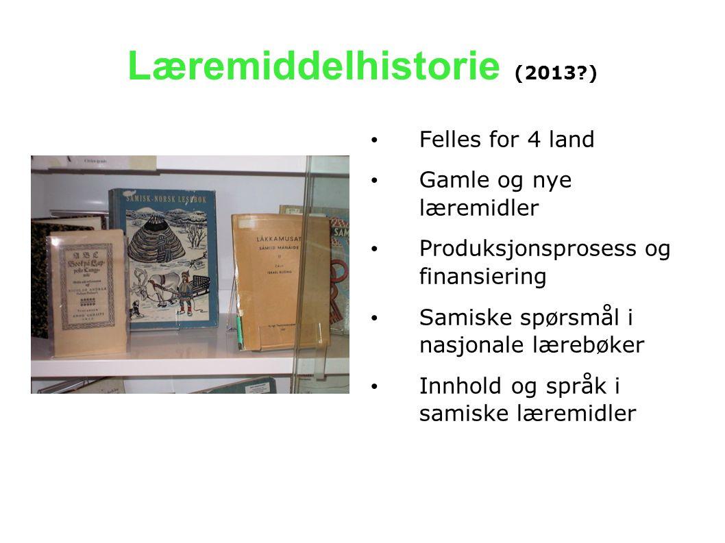 Læremiddelhistorie (2013 )