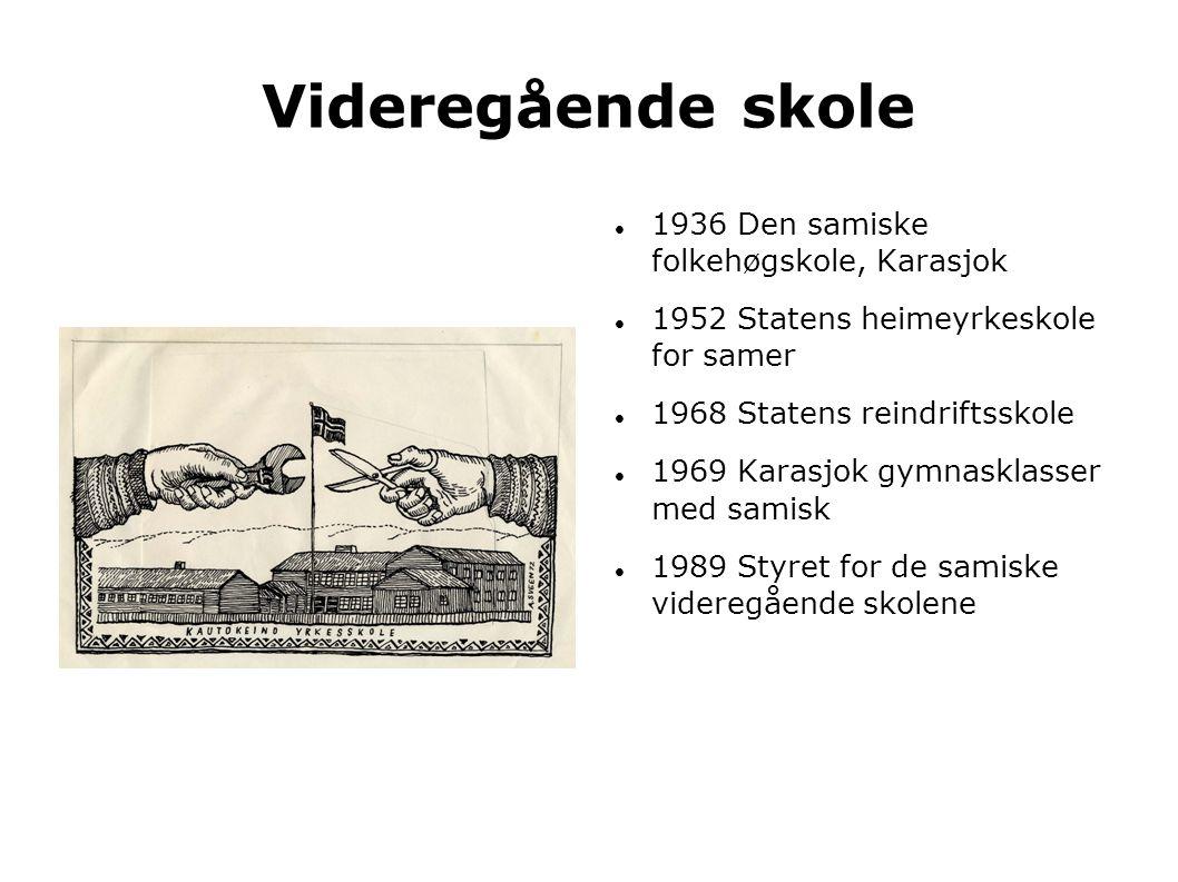 Videregående skole 1936 Den samiske folkehøgskole, Karasjok