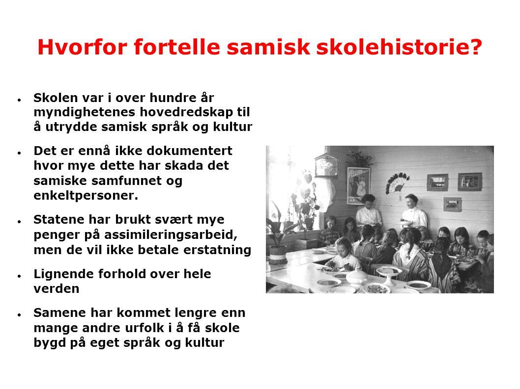 Hvorfor fortelle samisk skolehistorie