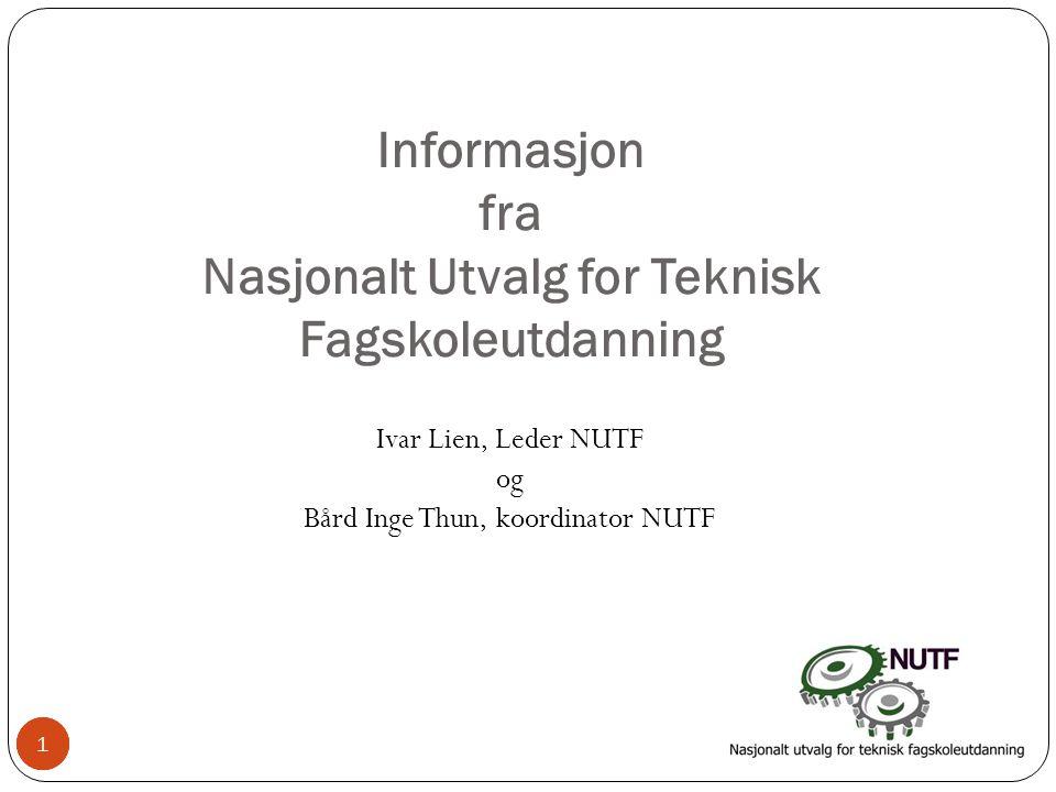Informasjon fra Nasjonalt Utvalg for Teknisk Fagskoleutdanning
