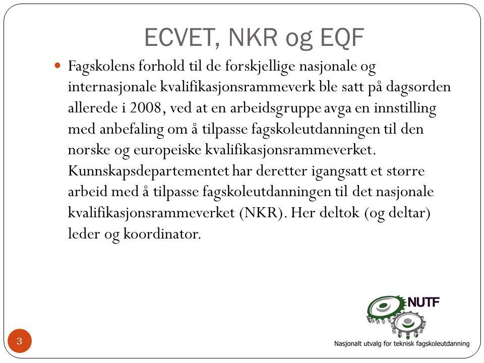 ECVET, NKR og EQF