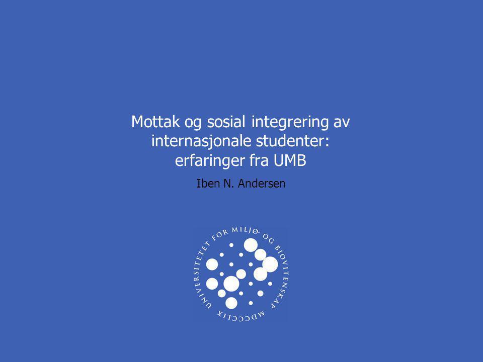 Mottak og sosial integrering av internasjonale studenter: erfaringer fra UMB