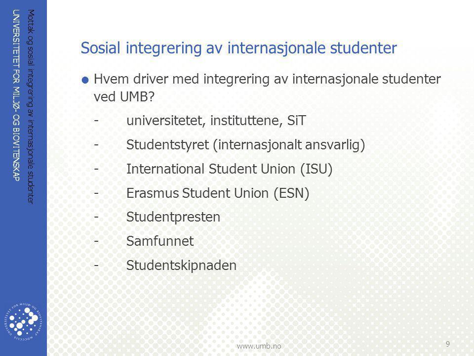 Sosial integrering av internasjonale studenter