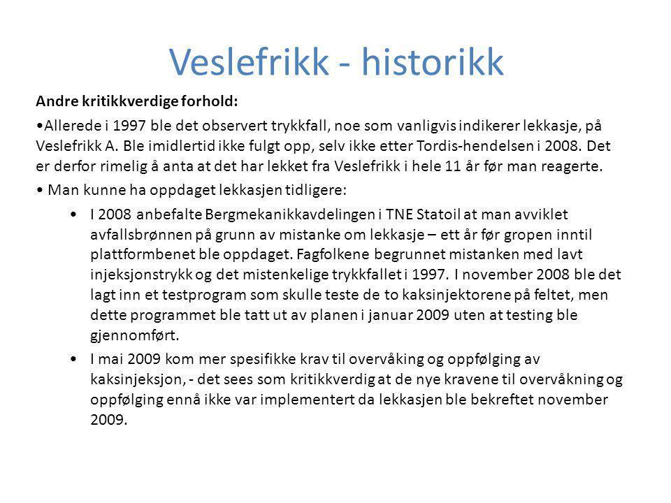 Veslefrikk - historikk