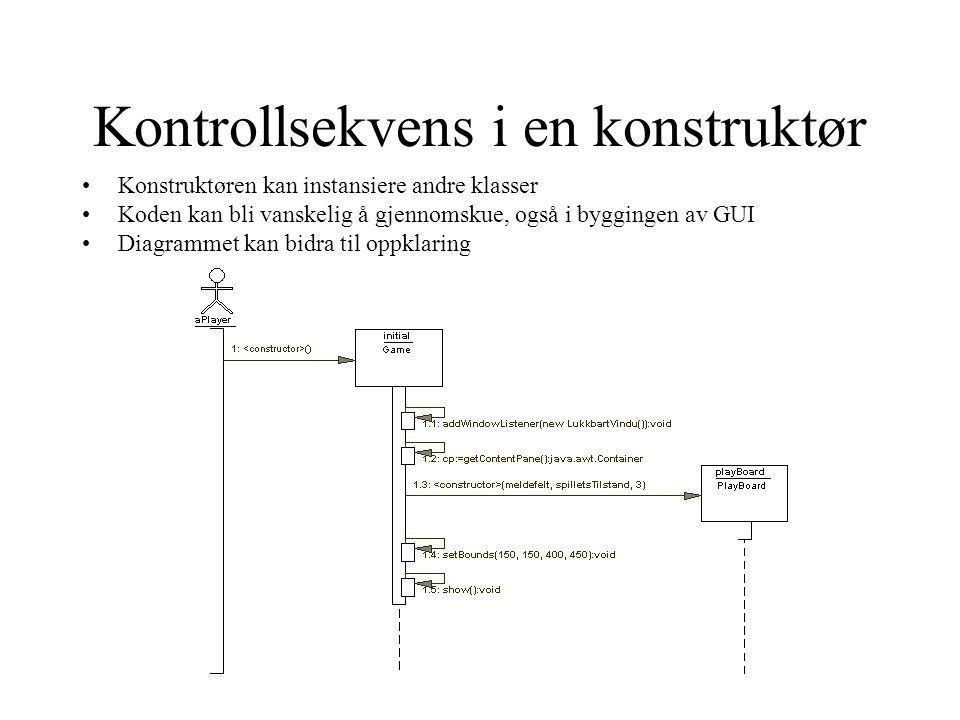 Kontrollsekvens i en konstruktør