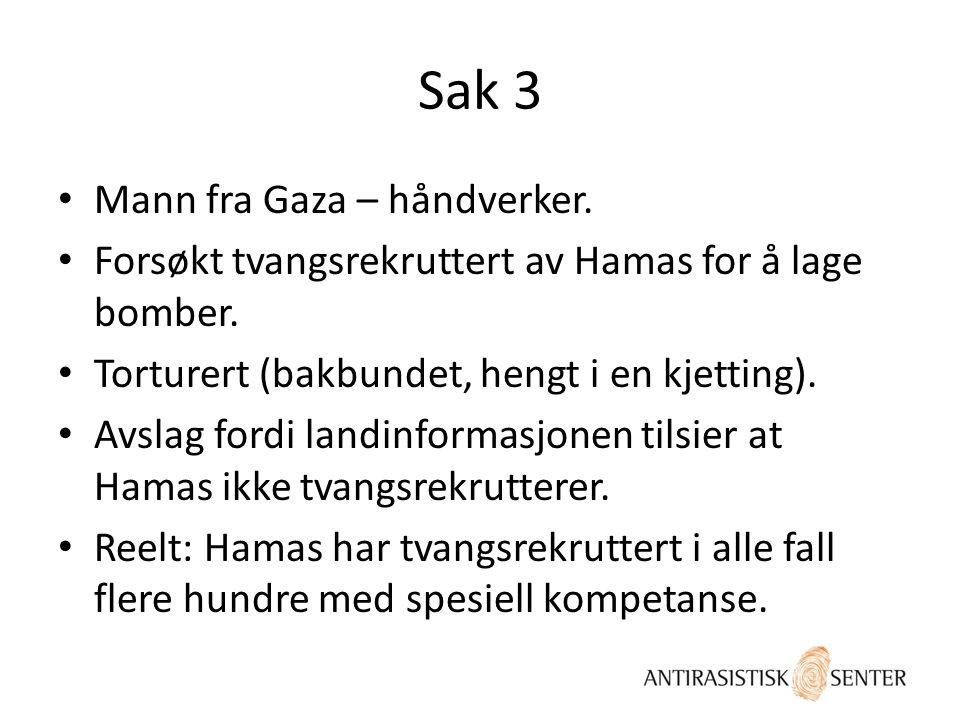 Sak 3 Mann fra Gaza – håndverker.