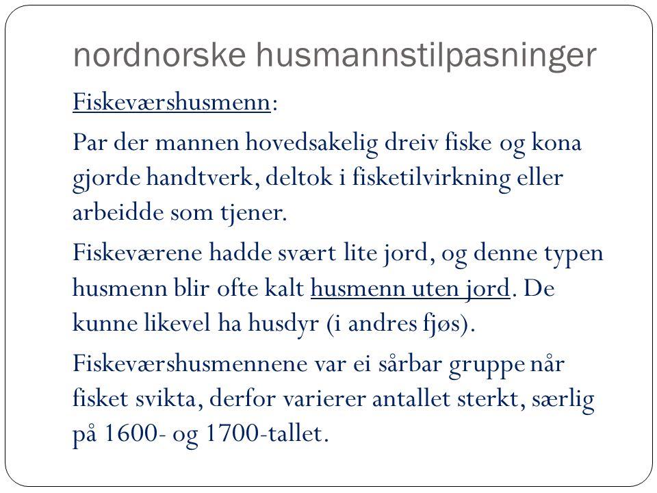 nordnorske husmannstilpasninger