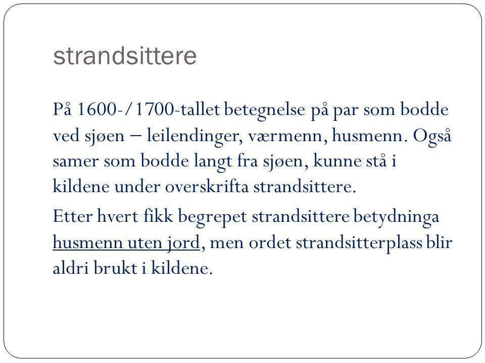 strandsittere