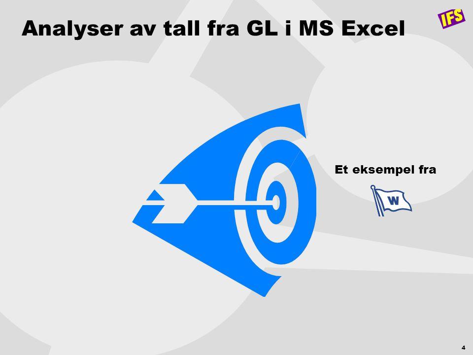 Analyser av tall fra GL i MS Excel