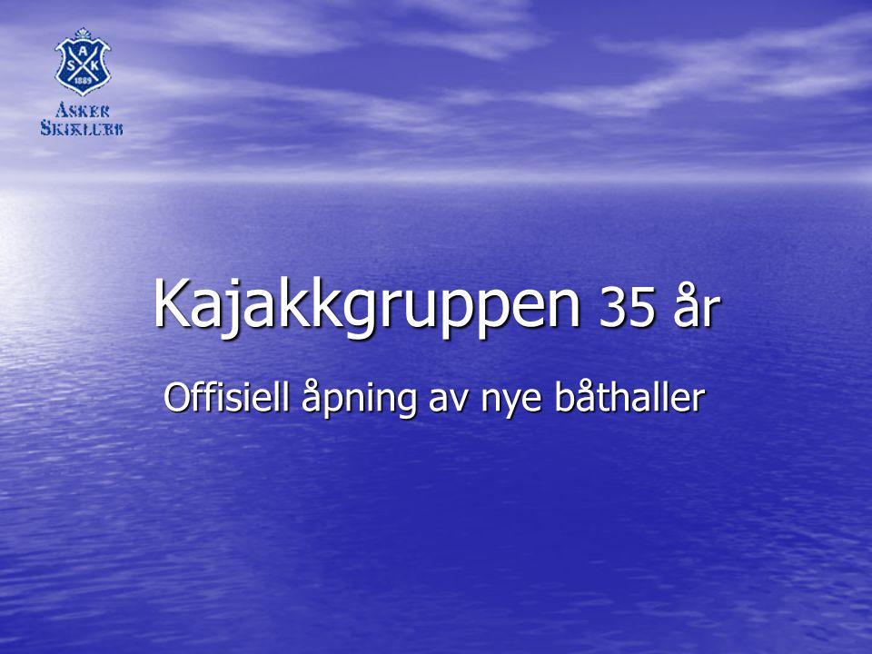 Offisiell åpning av nye båthaller