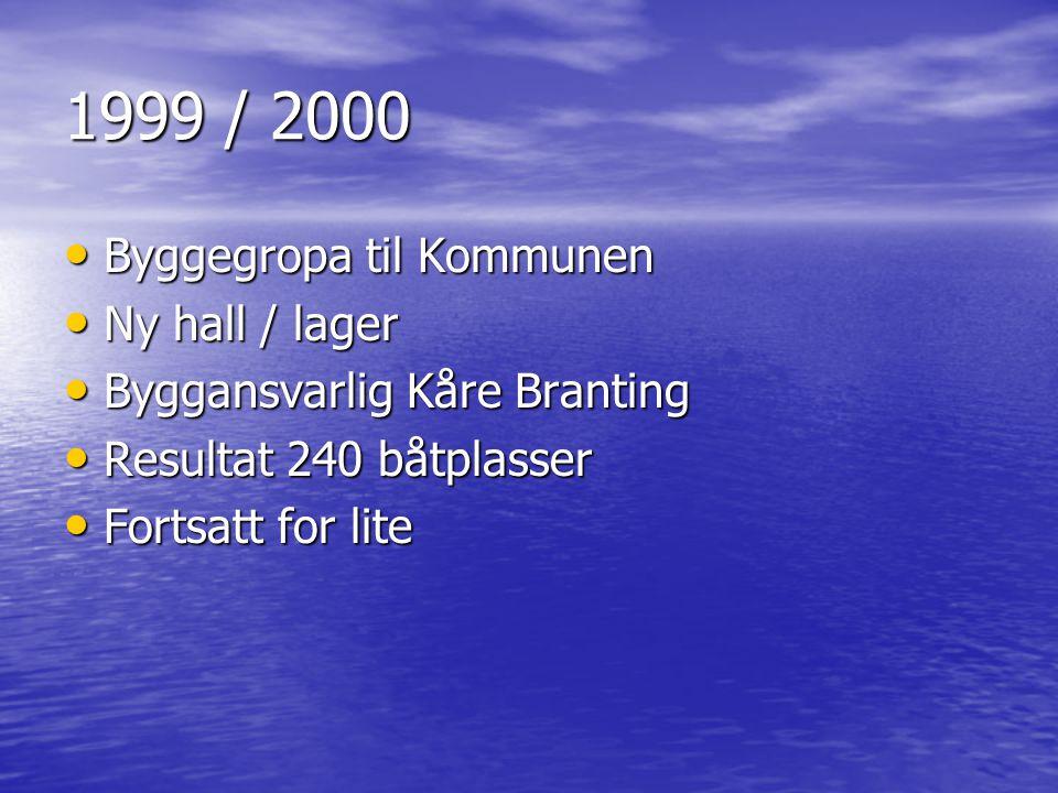 1999 / 2000 Byggegropa til Kommunen Ny hall / lager