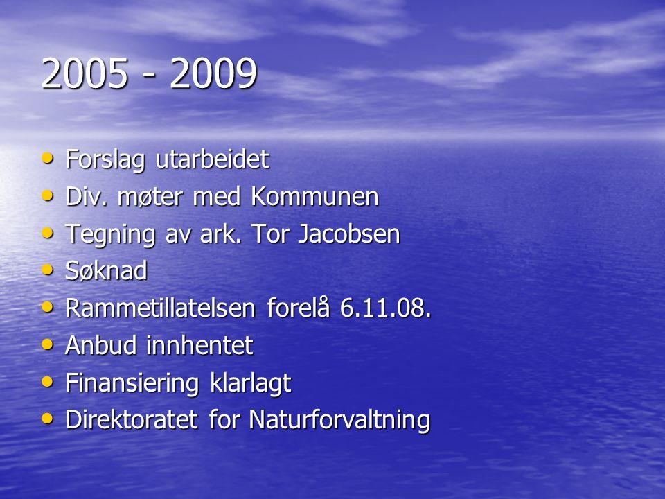 2005 - 2009 Forslag utarbeidet Div. møter med Kommunen