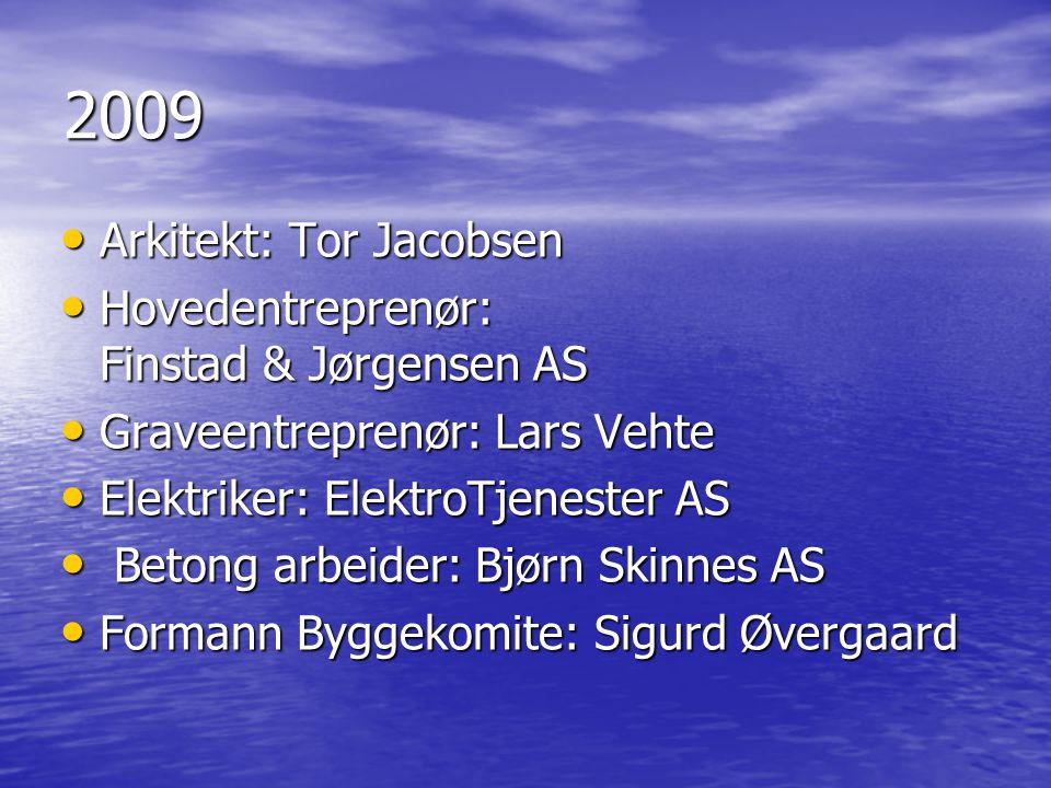 2009 Arkitekt: Tor Jacobsen Hovedentreprenør: Finstad & Jørgensen AS