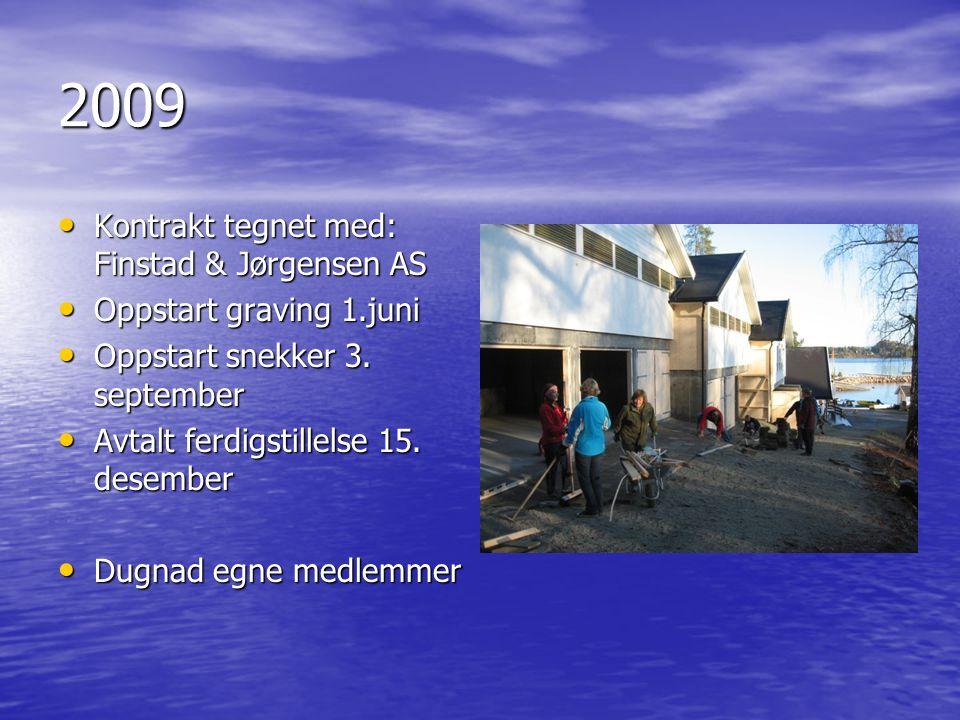 2009 Kontrakt tegnet med: Finstad & Jørgensen AS