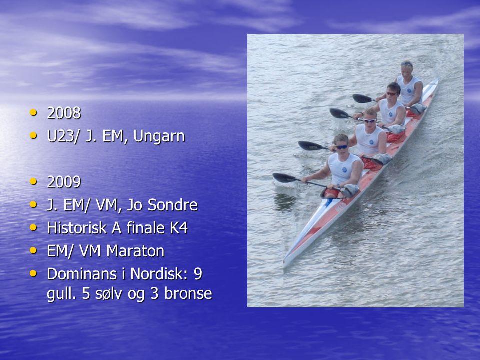 2008 U23/ J. EM, Ungarn. 2009. J. EM/ VM, Jo Sondre.