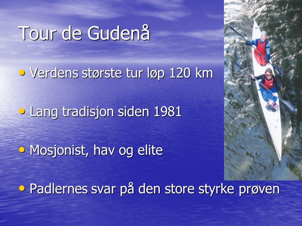 Tour de Gudenå Verdens største tur løp 120 km