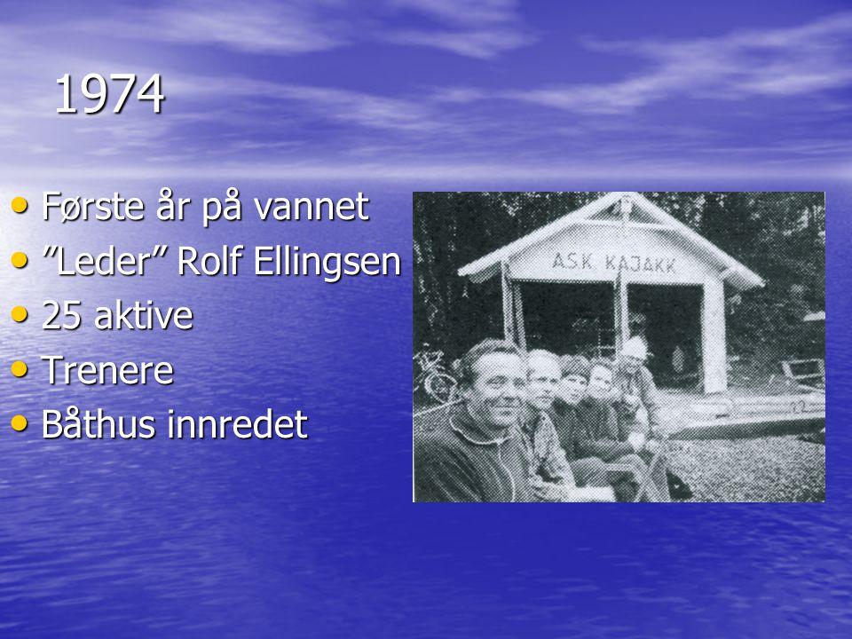 1974 Første år på vannet Leder Rolf Ellingsen 25 aktive Trenere