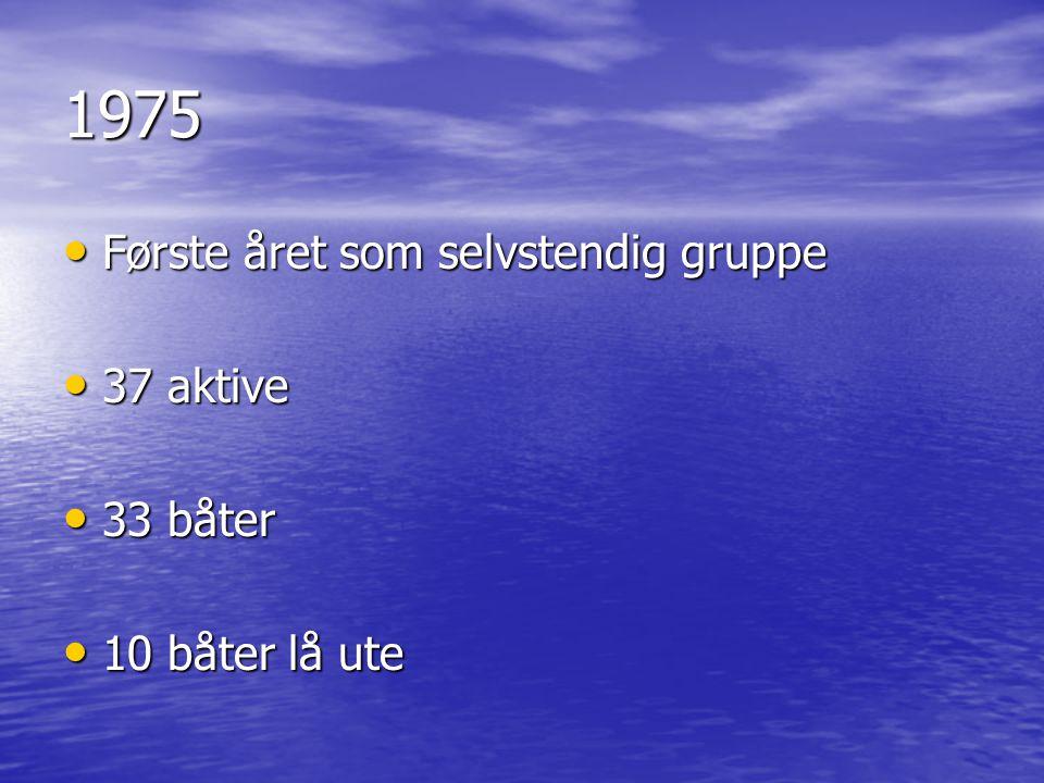 1975 Første året som selvstendig gruppe 37 aktive 33 båter