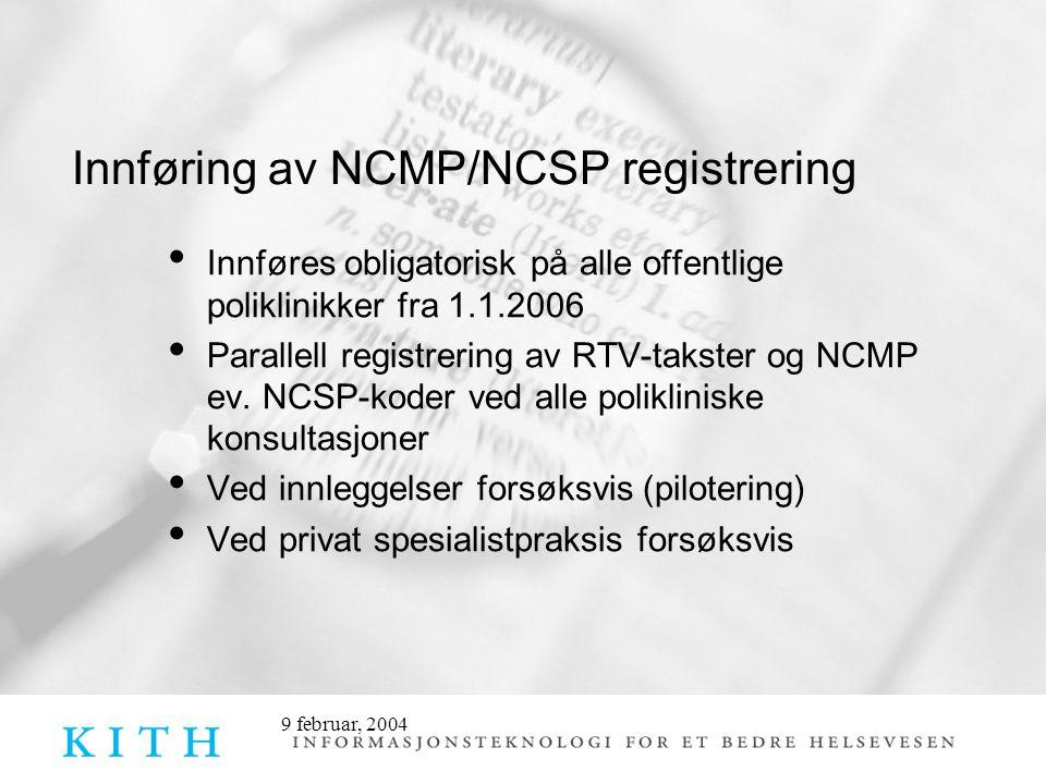 Innføring av NCMP/NCSP registrering