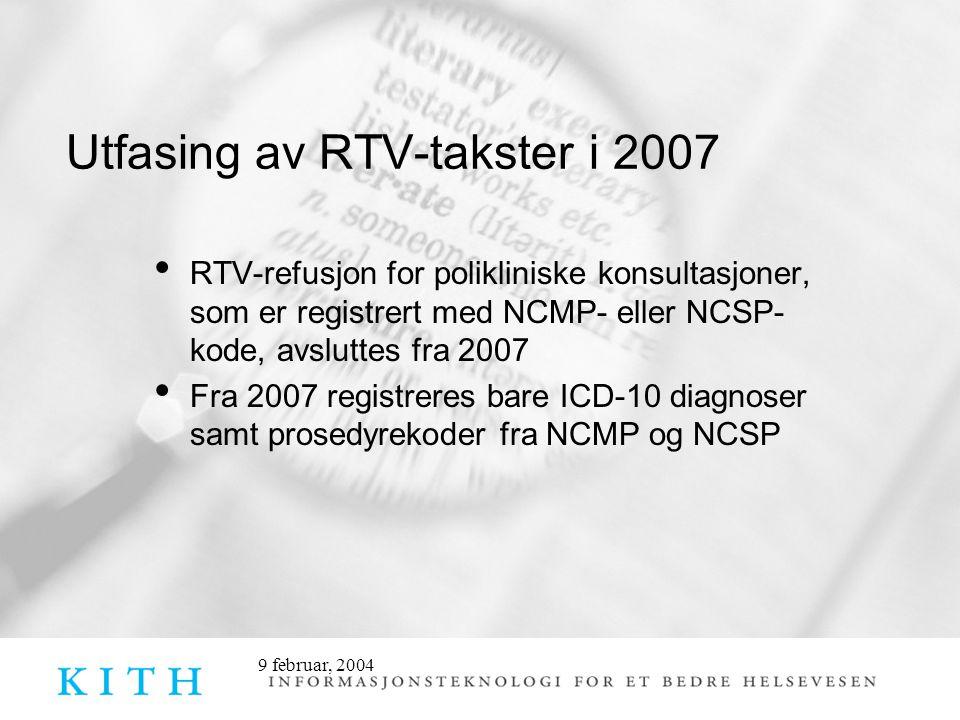 Utfasing av RTV-takster i 2007