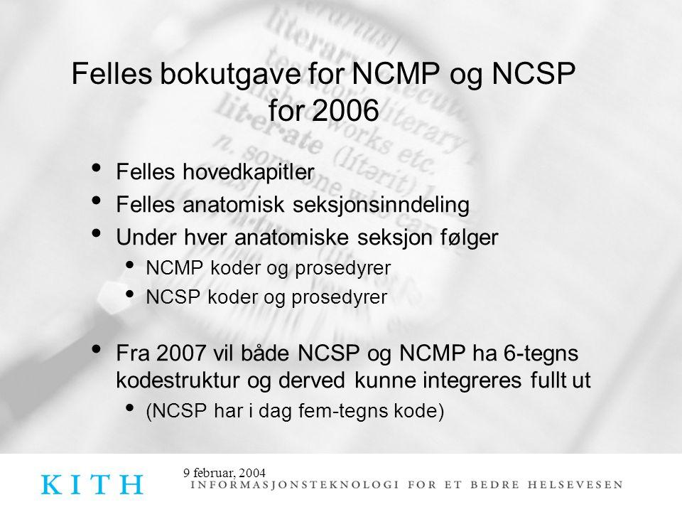 Felles bokutgave for NCMP og NCSP for 2006