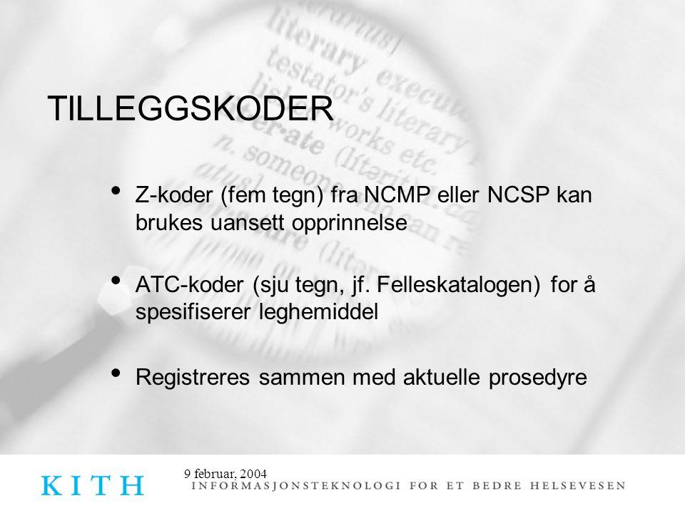 Z-koder (fem tegn) fra NCMP eller NCSP kan brukes uansett opprinnelse