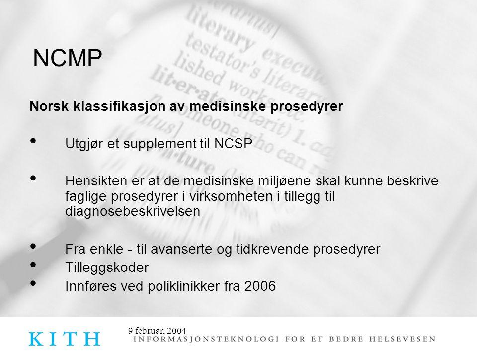 NCMP Norsk klassifikasjon av medisinske prosedyrer
