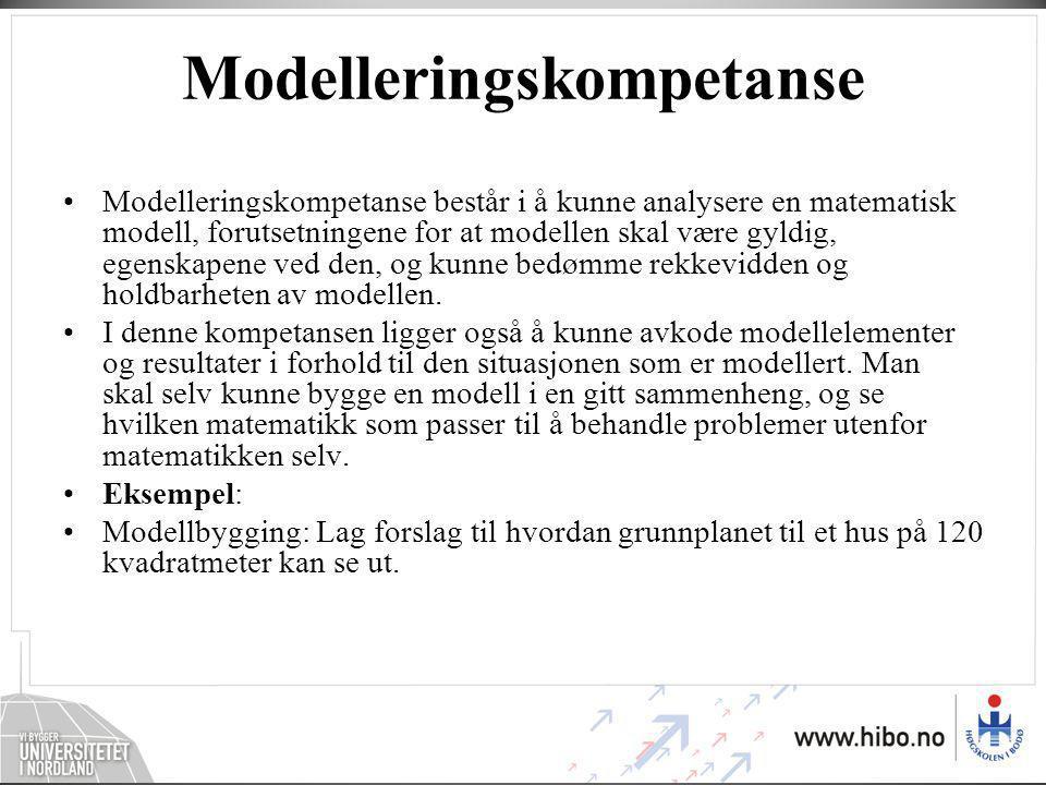 Modelleringskompetanse